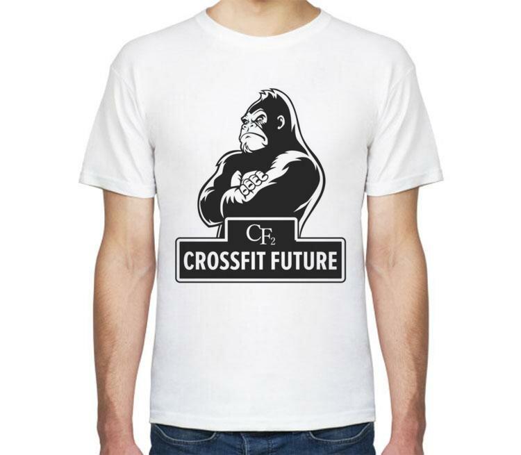 Мужская футболка Все Футболки Crossfit / Кроссфит мужская футболка с коротким рукавом белая
