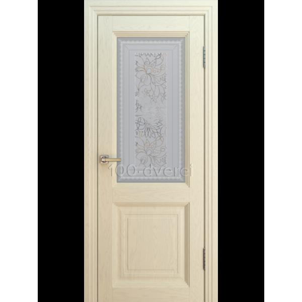 Дверь прага Багет 2 до 1 ясень айвори
