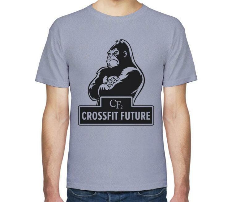 Мужская футболка Все Футболки Crossfit / Кроссфит мужская футболка с коротким рукавом голубой меланж