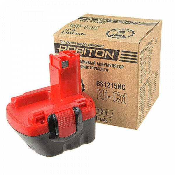 Аккумулятор Ni-Cd никель-кадмиевый Robiton BS1215NC для шуруповерта Bosch 12 В 1500 мАч Robiton 2211-02