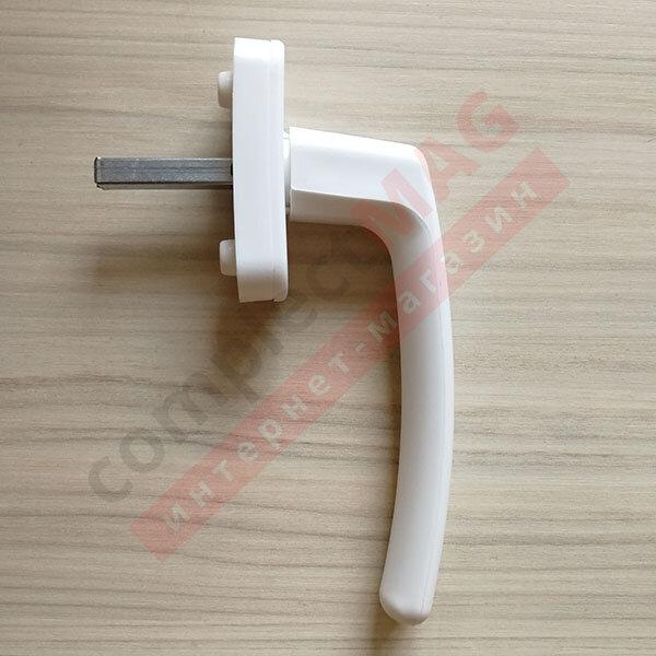 Ручка оконная пластиковая Рото, штифт 35 мм (белая)