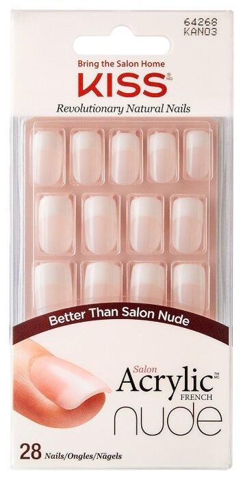 Накладные ногти KISS Salon Acrylic French Nude Medium Length с клеем