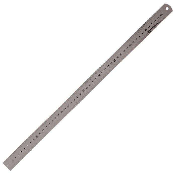 BRAUBERG Линейка металлическая 50 см (210310)