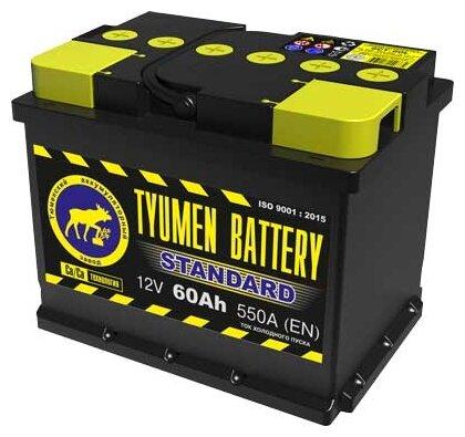 Автомобильный аккумулятор TYUMEN BATTERY STANDARD 6CT-60L 550А о.п.