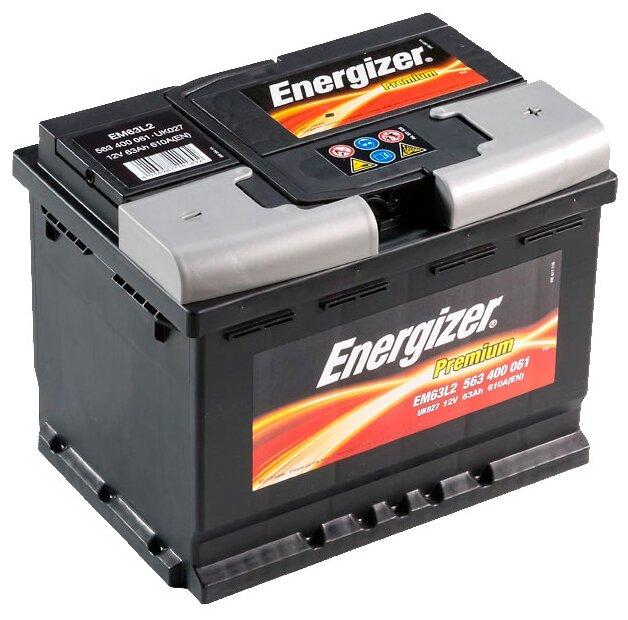 Автомобильный аккумулятор Energizer Premium EM63L2