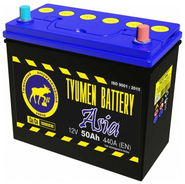 Автомобильный аккумулятор TYUMEN BATTERY ASIA 6СТ-50L 440А о.п.