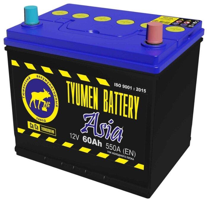 Автомобильный аккумулятор TYUMEN BATTERY ASIA 6СТ-60L 550А о.п.