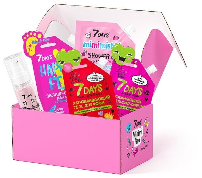 Набор 7DAYS подарочный Minimi box № 103, по уходу за кожей лица и тела