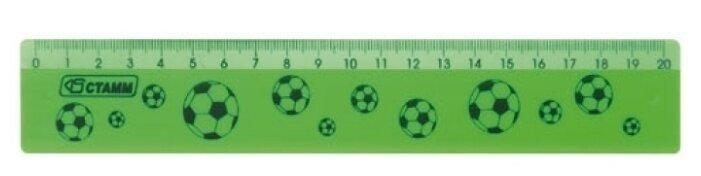 СТАММ Линейка широкая Neon 20 см (ЛН102)