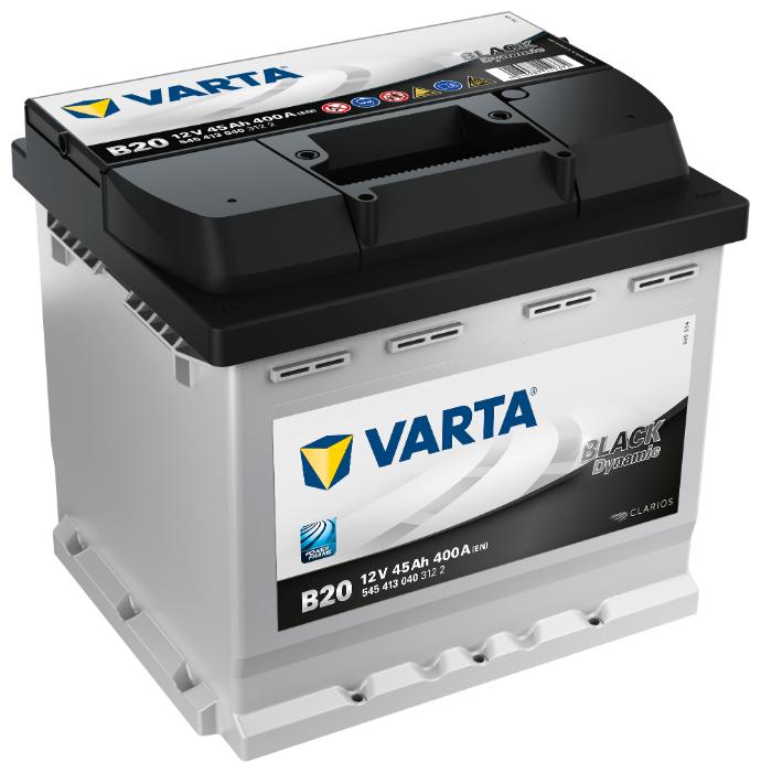 Автомобильный аккумулятор VARTA Black Dynamic B20 (545 413 040)