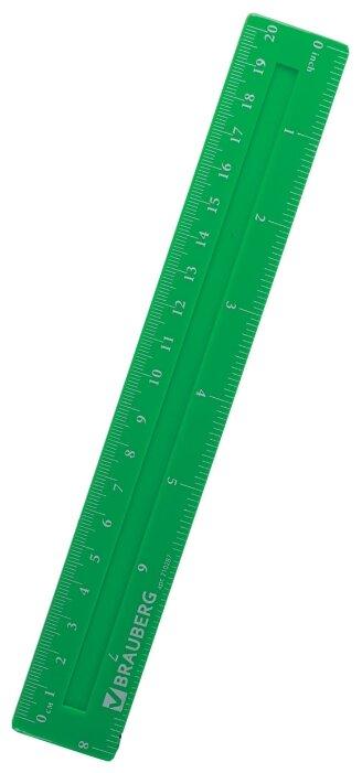 BRAUBERG Линейка Crystal Vivid 20 см (210287)