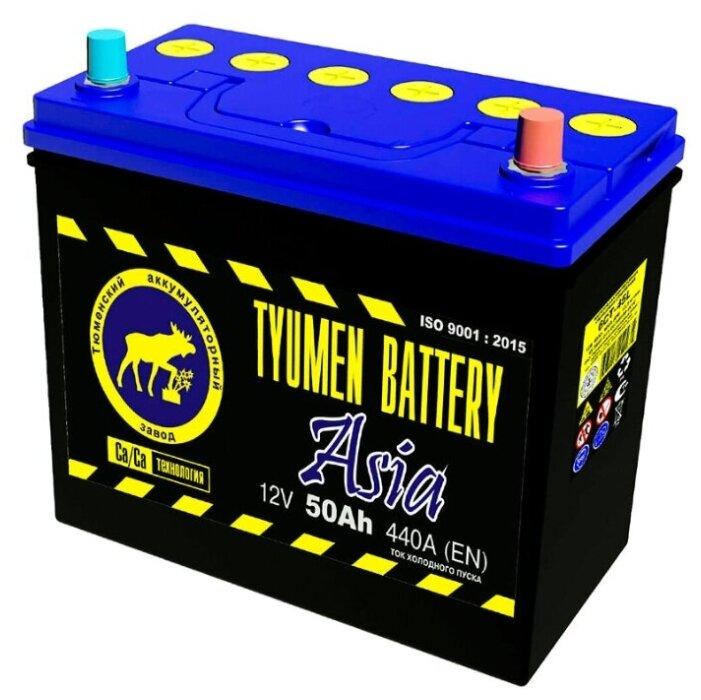 Аккумулятор автомобильный TYUMEN BATTERY 50 A/h обратная полярность Asia
