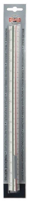 KOH-I-NOOR Линейка 602 масштабная трехгранная 6 шкал 30 см (071500400000)