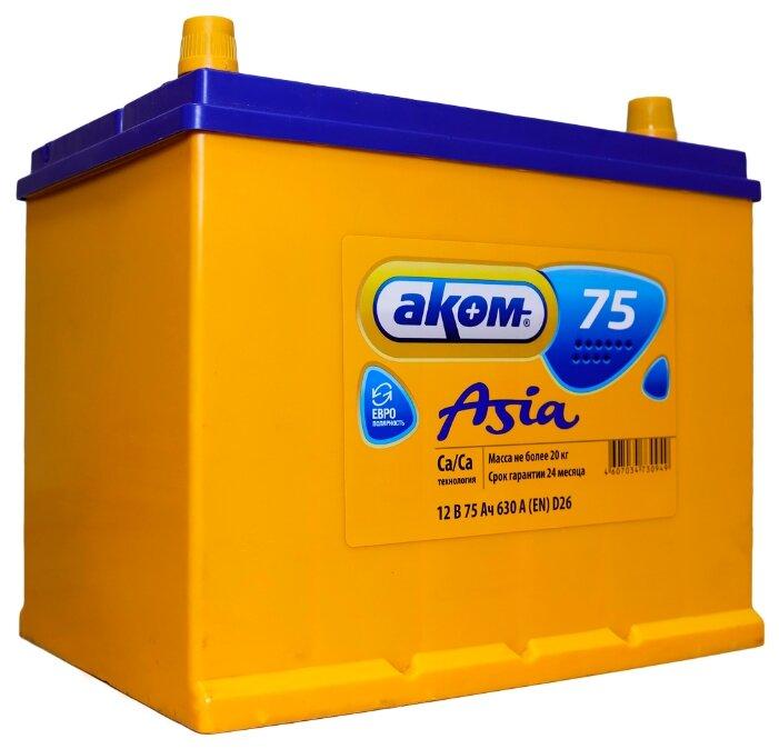 Автомобильный аккумулятор Аком Asia 75Е