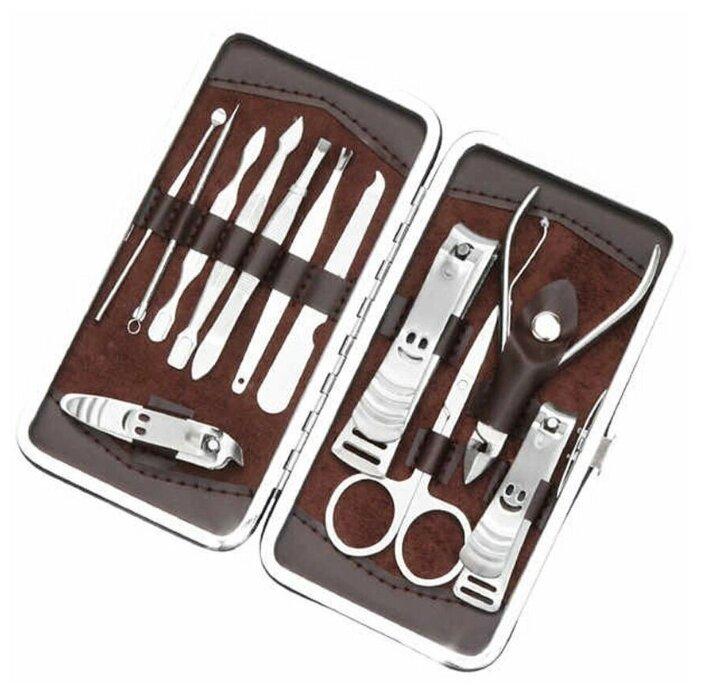 Набор Ecotone Master для маникюра, педикюра, инструменты по уходу за лицом, 12 предметов