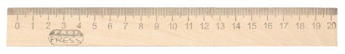 Prof-Press Линейка деревянная 20 см (Л-4265)