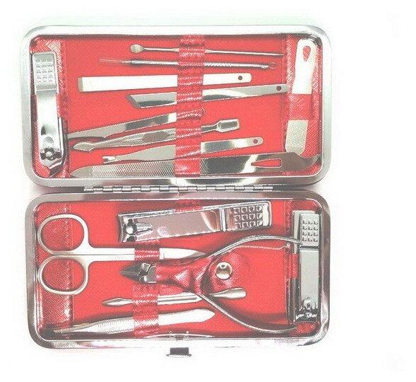 Маникюрный набор Makeup Kit & Manicure Set ZY-883 (16 предметов), красный